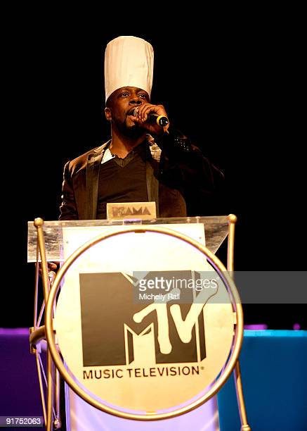 Wyclef Jean hosts the MTV Africa Music Awards with Zain at the Moi International Sports Centre on October 10 2009 in Nairobi Kenya