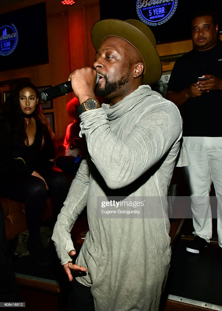 Wyclef Jean performs at the Bounce Sporting Club Celebrates Its 5th Anniversary at Bounce Sporting Club on September 20, 2016 in New York City.