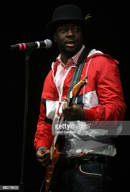 Wyclef Jean performs during the Domino Effect Benefit Concert at the New Orleans Arena on May 30 2009 in New Orleans Louisiana
