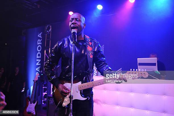 Wyclef Jean performs onstage at the Lexus PopUp Concert Series Powered By Pandora at Gallery of Amazing Things on April 15 2015 in Dania Beach Florida