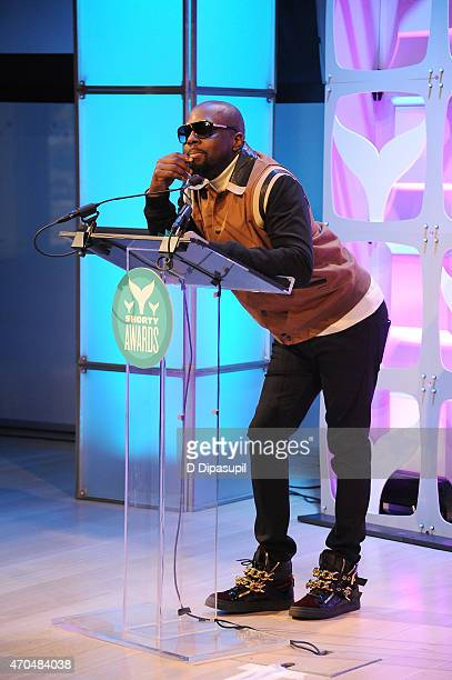 Wyclef Jean speaks onstage attend The 7th Annual Shorty Awards on April 20 2015 in New York City