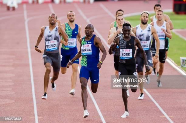 Wyclife Kiny Amal and Emmanuel Kipkurui Korir compete in men's 800m on July 05, 2019 in Lausanne, Switzerland.