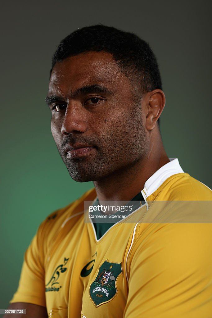 Wycliff Palu of the Wallabies poses during an Australian Wallabies portrait session on May 30, 2016 in Sunshine Coast, Australia.