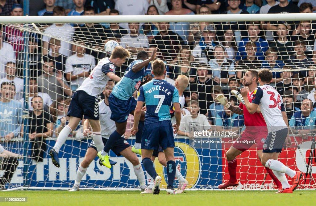 Wycombe Wanderers v Bolton Wanderers - Sky Bet Leauge One : News Photo