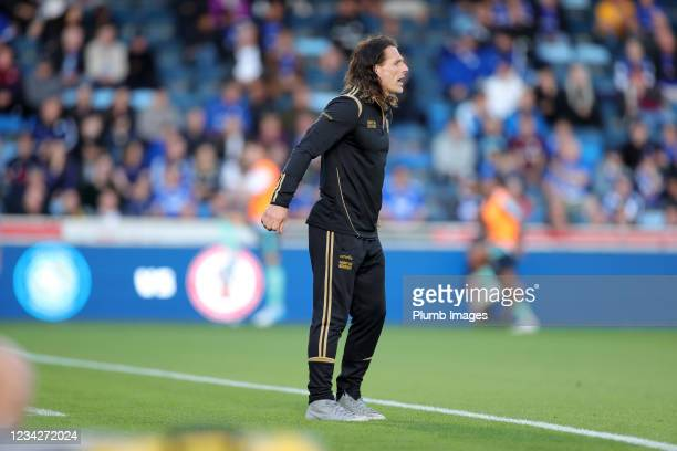 Wycombe Wanderers Manager Gareth Ainsworth during The Pre-Season Friendly between Wycombe Wanderers and Leicester City at Adams Park on July 28, 2021...