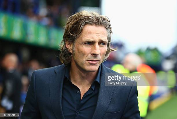 Wycombe Wanderers Manager Gareth Ainsworth looks on during the Sky Bet League Two match between Portsmouth and Wycombe Wanderers at Fratton Park on...