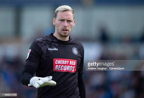 Wycombe Wanderers' Ryan Allsop during the Sky Bet League One match between Wycombe Wanderers and Lincoln City at Adams Park on September 7 2019 in...