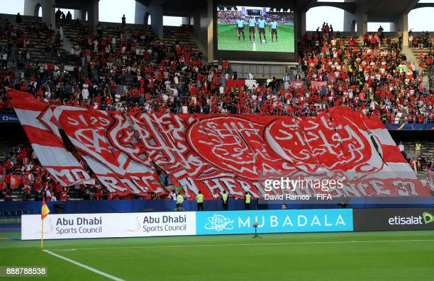 Wydad Casablanca fans during the FIFA Club World Cup match between CF Pachuca and Wydad Casablanca at Zayed Sports City Stadium on December 9 2017 in...