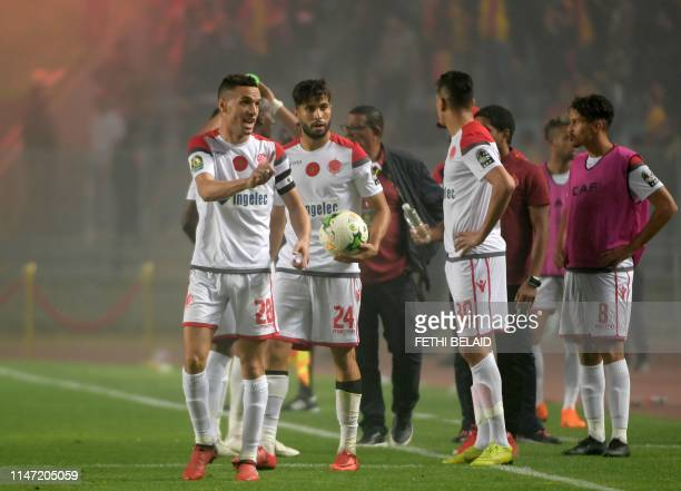Wyded soccer players refuse to continue playing after the Video assistant referee system did not work and the match was interrupted during the 2nd...