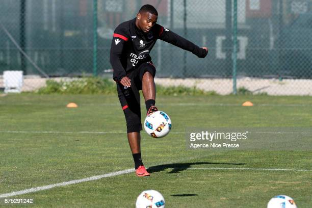 Wylan Cyprien of Nice during Nice training session on November 17 2017 in Nice France