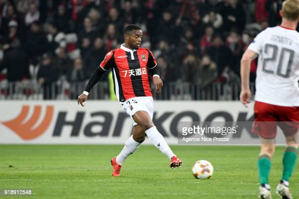 Wylan Cyprien of Nice during the Europe League match between Nice and Lokomotiv Moscow at Allianz Riviera on February 15 2018 in Nice France