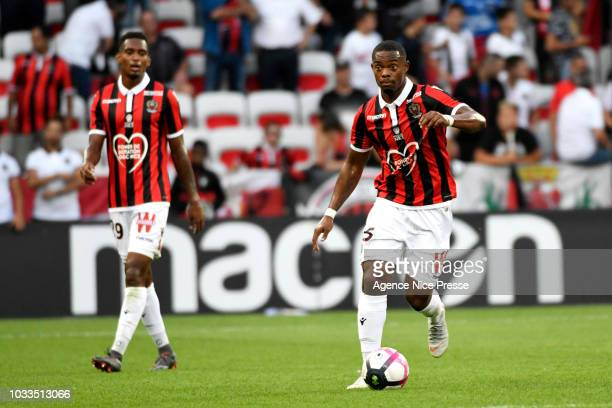 Wylan Cyprien of Nice during the French Ligue 1 match between Nice and Rennes on September 14 2018 in Nice France