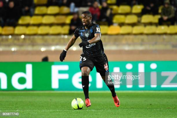 Wylan Cyprien of Nice during the Ligue 1 match between AS Monaco and OGC Nice at Stade Louis II on January 16 2018 in Monaco