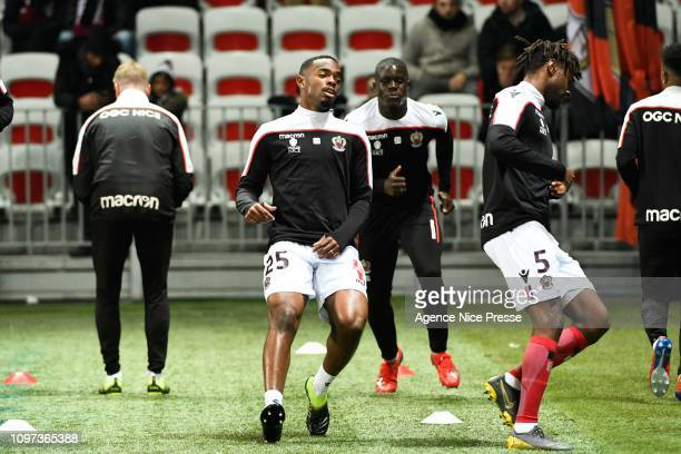 Wylan Cyprien of Nice during the Ligue 1 match between Nice and Lyon at Allianz Riviera on February 10 2019 in Nice France