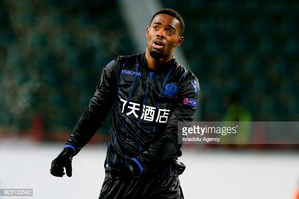 Wylan Cyprien of Nice is seen during the UEFA Europa League round of 32 second leg soccer match between Lokomotiv Moscow and Nice at the Stadion...
