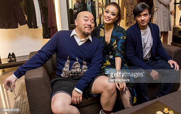 Wyman Wong Joey Yung and Stephen Fung at Art of the Trench Hong Kong event on September 24 2014 in Hong Kong