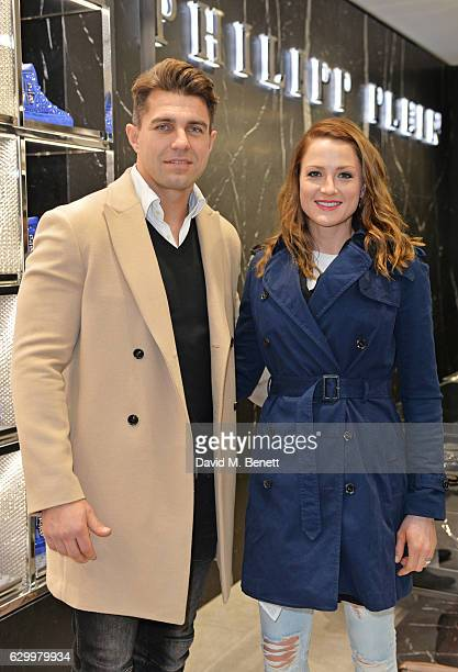 Wynand Olivier and Anri Brand attend a cocktail party hosted by Philipp Plein to celebrate the opening of the Philipp Plein London boutique on...