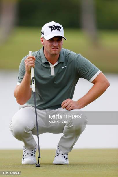 Wyndham Clark reads the third green during the first round of the Puerto Rico Open at Coco Beach Golf and Country Club on February 21 2019 in Rio...