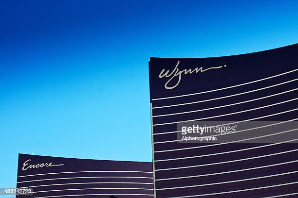 wynn and encore hotels - wynn las vegas stock pictures, royalty-free photos & images