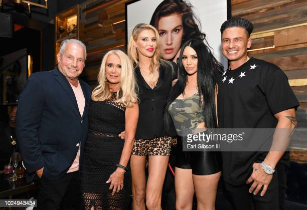 Wynn Katz Kim Richards Brandi Glanville Scheana Shay and Pauly D attend the premiere of WE tv's Marriage Boot Camp Reality Stars at HYDE Sunset...
