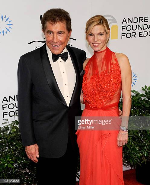 Wynn Resorts Chairman CEO Steve Wynn and Andrea Hissom arrive at the Andre Agassi Foundation for Education's 15th Grand Slam for Children benefit...