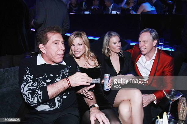 Wynn Resorts Chairman CEO Steve Wynn and his wife Andrea Hissom Designer Tommy Hilfiger and his wife Dee Hilfiger during wedding banquet of Coco Lee...