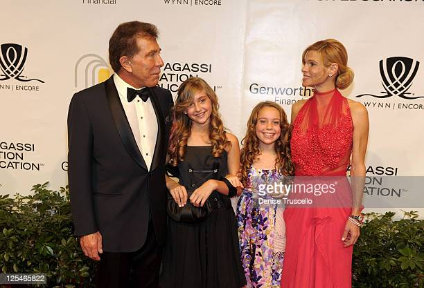 Wynn Resorts Chairman CEO Steve Wynn granddaughter Marlowe Early Casey Glasser and Andrea Hissom arrive at the Andre Agassi Foundation for...