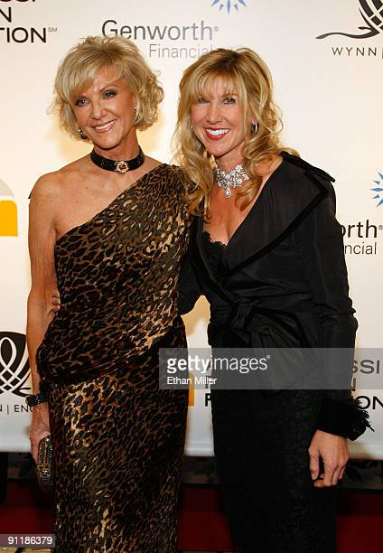 Wynn Resorts Director Elaine Wynn and daughter Kevyn Wynn arrive at the 14th annual Andre Agassi Charitable Foundation's Grand Slam for Children...