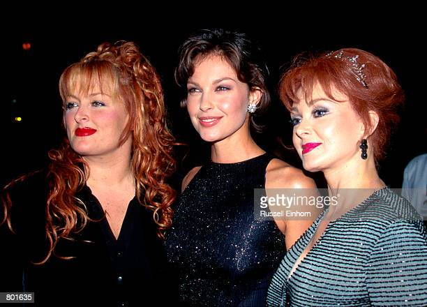 Wynonna Ashley and Naomi Judd at the premiere of Kiss The Girls in Los Angeles CA October 3 1997