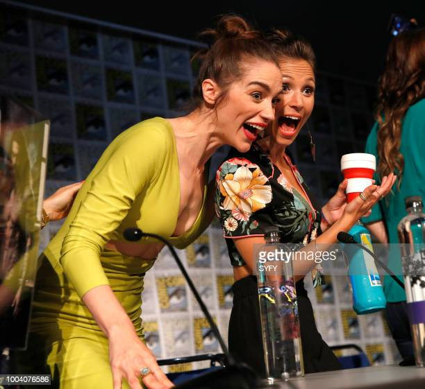 DIEGO Wynonna Earp Panel Pictured Melanie Scrofano Dominique ProvostChalkley