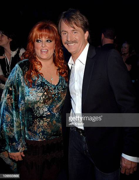Wynonna Judd and Jeff Foxworthy during 2006 CMT Music Awards Backstage and Audience at Curb Events Center at Belmont University in Nashville...