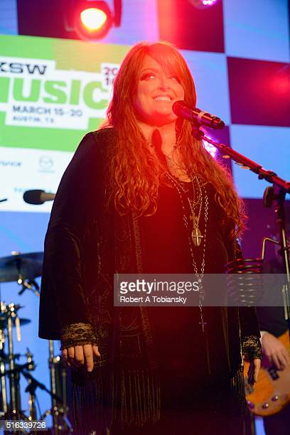 Wynonna Judd performs onstage at Pandora Discovery Den during the 2016 SXSW Music Film Interactive Festival on March 17 2016 in Austin Texas