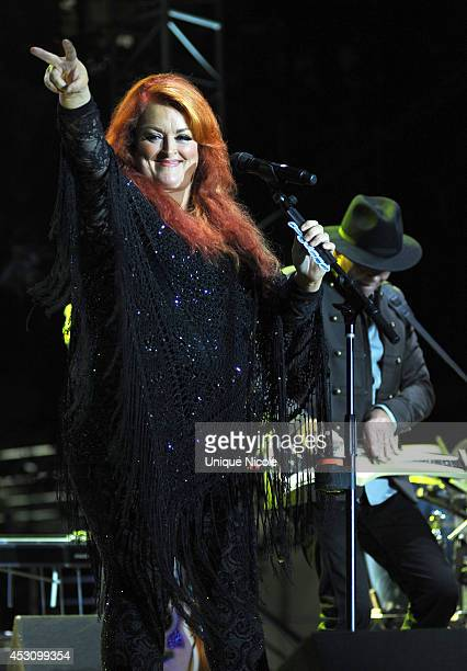 Wynonna Judd The Big Noise Performs At KCRW's Country In The City at Century Park on August 2 2014 in Century City California