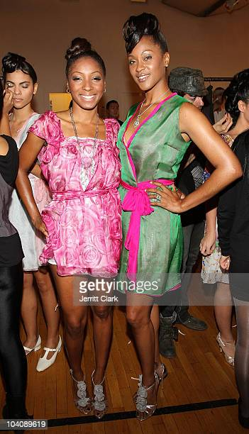 Wynter Gordon and Shontelle attend bobi/Boy Meets Girl/Caravan Spring 2011 at Style360 on September 14 2010 in New York City
