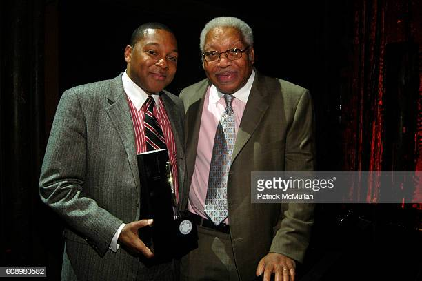 Wynton Marsalis and Ellis Marsalis attend Montblanc de la Culture Awards at Angel Orensanz Foundation Center for the Arts on May 2 2007 in New York...
