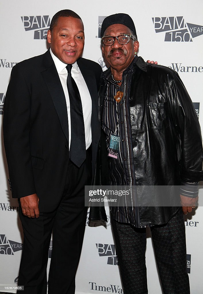 Wynton Marsalis and Garth Fagan attend BAM 30th Next Wave Gala at Skylight One Hanson on September 27, 2012 in New York City.
