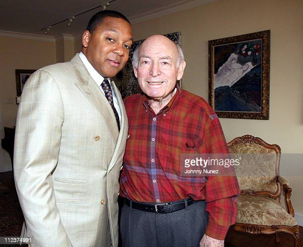 Wynton Marsalis and George Wein during Victoria Rowell Private Launch of Her Book The Women Who Raised Me Hosted by George Wein at Home of George...