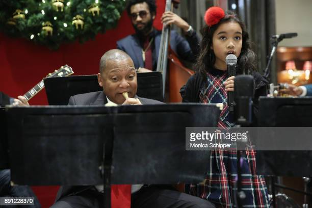 Wynton Marsalis and his daughter perform onstage as Brooks Brothers celebrates the holidays with St Jude Children's Research Hospital on December 12...