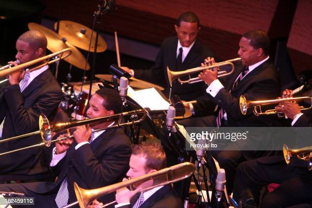 Wynton Marsalis and Jazz at Lincoln Center Orchestra performing in Sketches of Gil Evans at Rose Theater on Thursday night October 25 2007They...