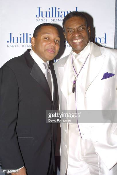 Wynton Marsalis and Keith David during Classified Jazz A Benefit Concert For The Juilliard School at Juilliard Theater Lincoln Center in New York...