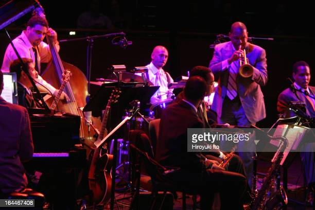 Wynton Marsalis and members of Jazz at Lincoln Center performing the music of Louis Armstrong at Rose Theater on Thursday night, September 28,...