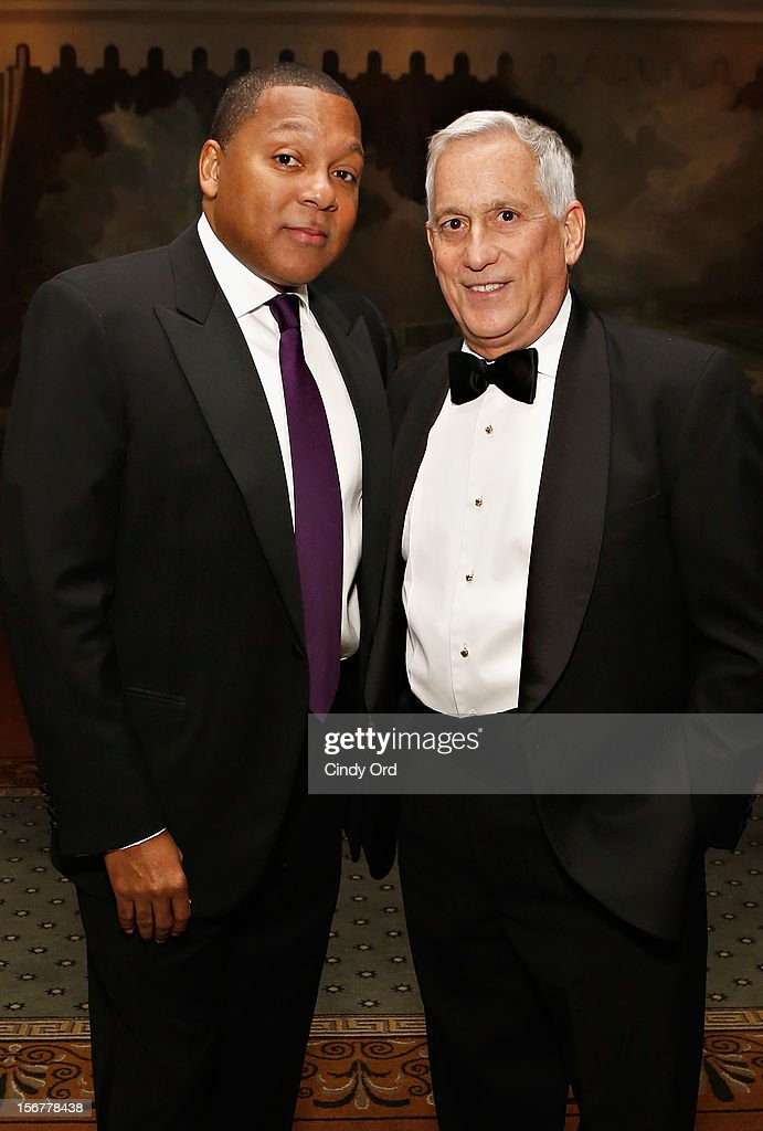 Wynton Marsalis and Walter Isaacson attend the 2012 History Makers Gala at The Pierre Hotel on November 20, 2012 in New York City.
