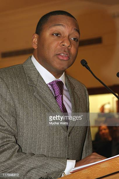 Wynton Marsalis during Brook Brothers Join with Rabi Gellman and Father Tom Hartman at The Manhassett Location December 4 2005 at Brooks Brothers...
