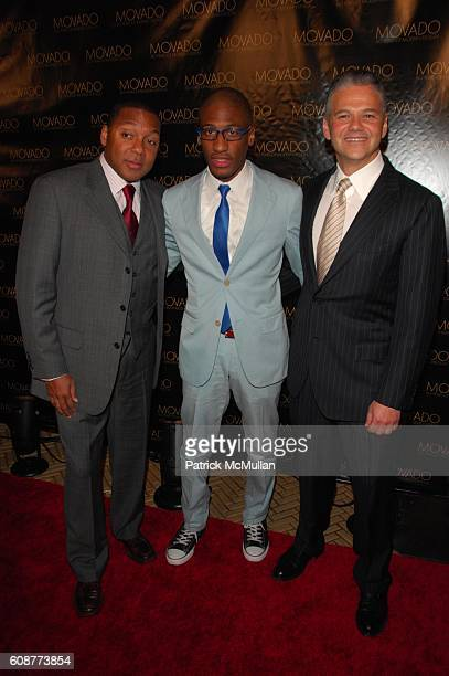 Wynton Marsalis, Jonathan Batiste and Efraim Grinberg attend MOVADO with John F. Kennedy Center for the Performing Arts; Cooper-Hewitt, National...