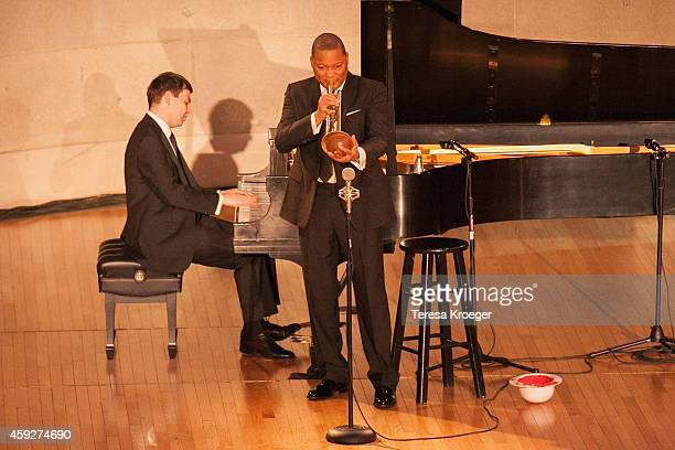 Wynton Marsalis performs on stage at the New Republic Centennial Gala at the Andrew W. Mellon Auditorium on November 19, 2014 in Washington, DC.