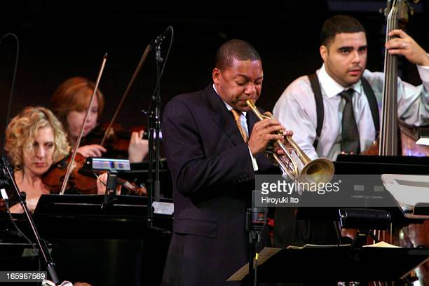 Wynton Marsalis with Strings at the Rose Theater on Thursday night November 17 2005This imageWynton Marsalis and Carlos Henriquez