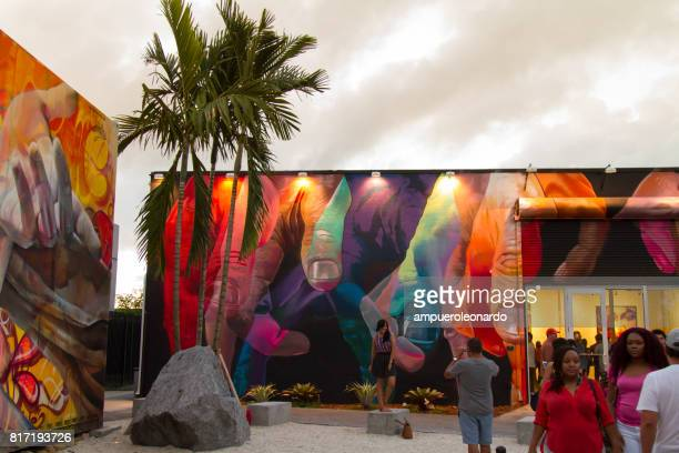 wynwood miami florida - mural stock pictures, royalty-free photos & images