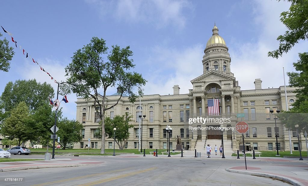 Wyoming Capitol Building Stock Photo - Getty Images