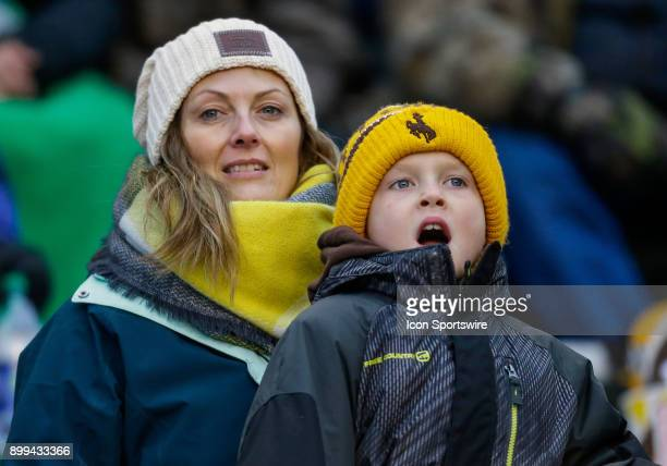 Wyoming Cowboys fans during Famous Idaho Potato Bowl featuring the Central Michigan Chippewas and Wyoming Cowboys on December 22 2017 at Albertson...