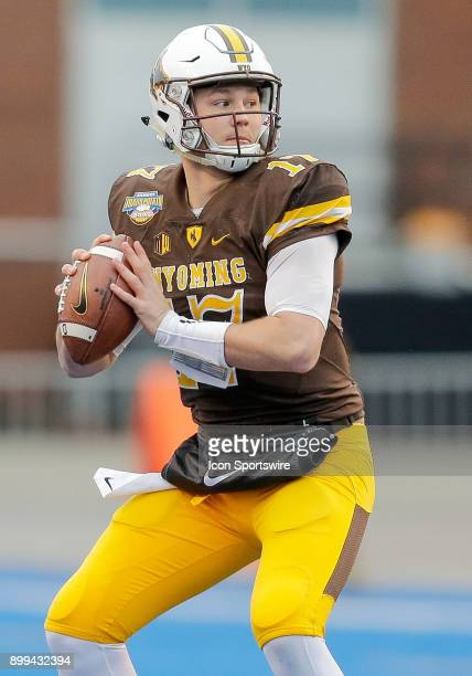 Wyoming Cowboys quarterback Josh Allen during Famous Idaho Potato Bowl featuring the Central Michigan Chippewas and Wyoming Cowboys on December 22...